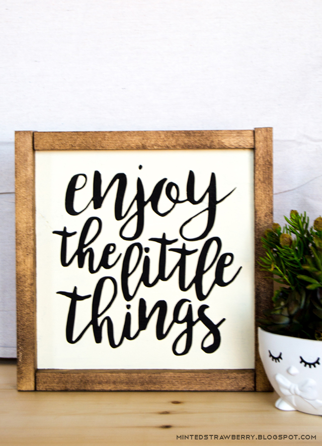 WEEKEND MUSINGS: Rustic signs + Other Things - Minted Strawberry