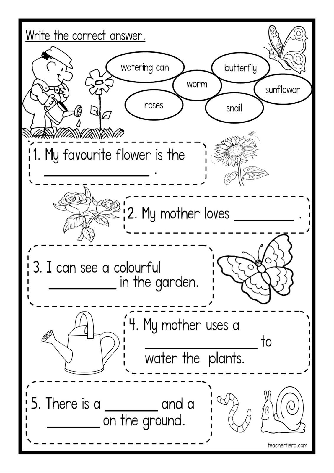 French Worksheets For Grade 4