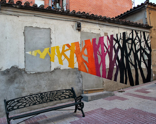 Street Art By Pablo S. Herrero and E1000 In The Pizarrales District Of Salamanca, Spain. 1