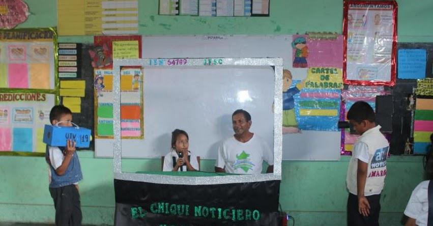 Escolares del colegio Faustino Sánchez producen noticiero infantil para promocionar actividad de escritura en Ucayali