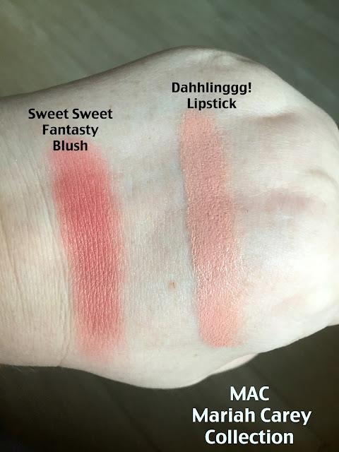 MAC Mariah Carey Collection Blush & Lipstick Swatches