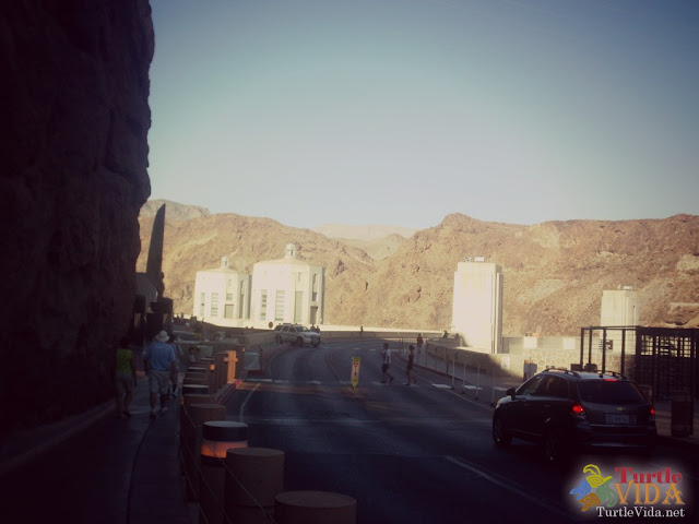 Walking across the Hoover Dam