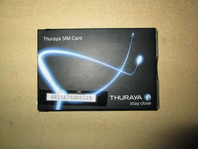 perdana hape satelit Thuraya