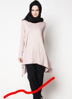 model baju atasan muslim kain sifon