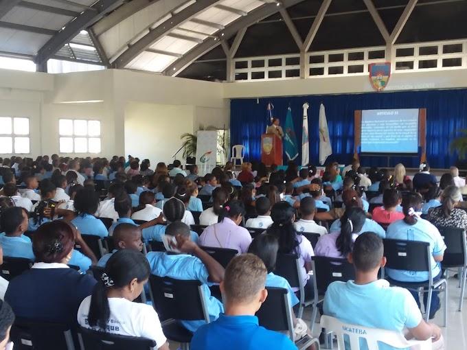 """Realizan Conferencia """"Valores Patrios"""", organizada por la dirección regional 01 de educación de Barahona, El Ministerio de Cultura y UCATEBA"""