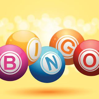 Bingo balls spelling B I N G O