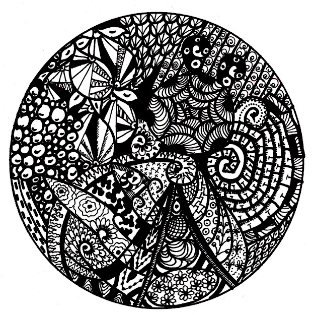 Free Printable Mandala Coloring Pages   Mandalazentanglestyledrawing