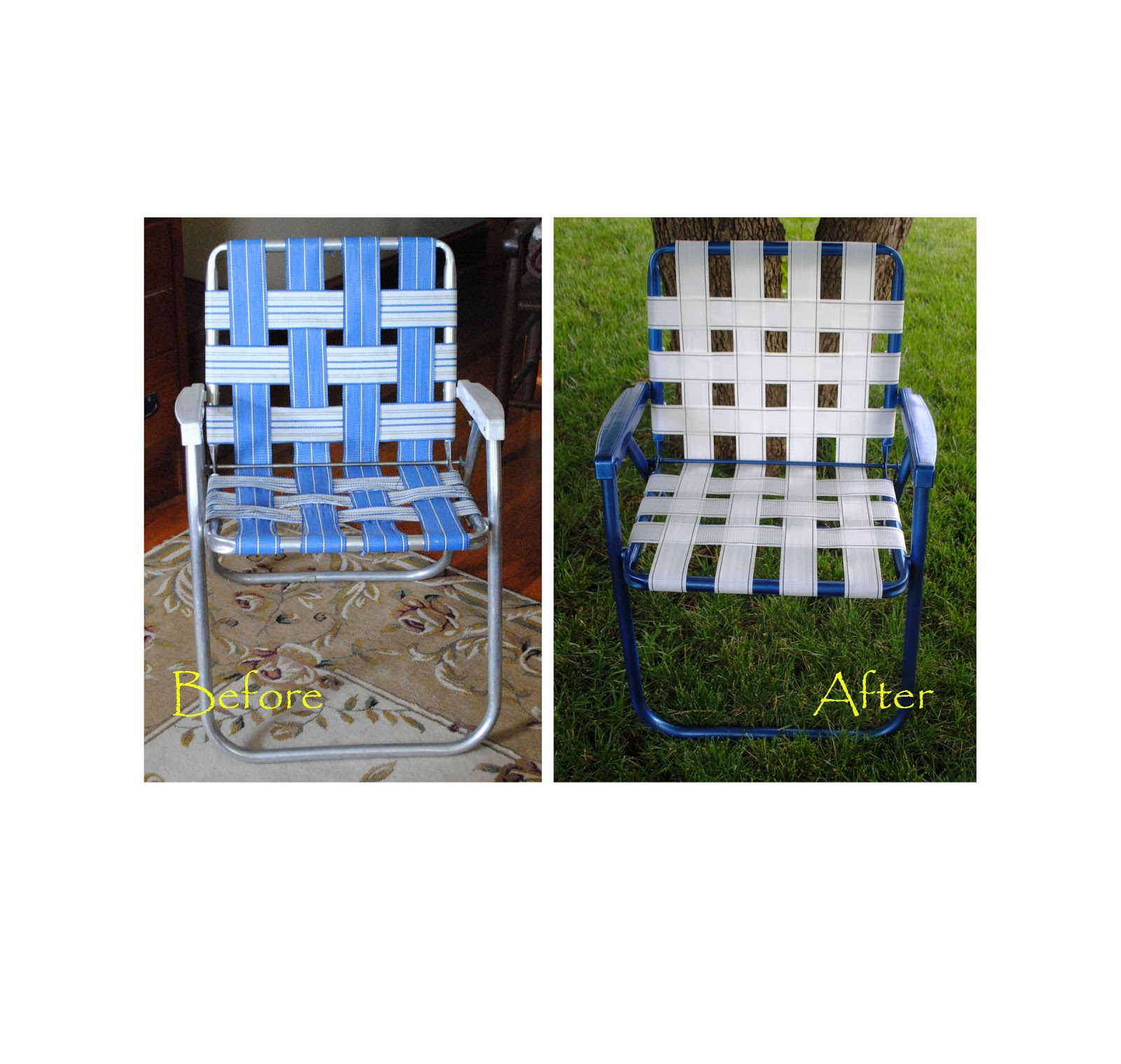 rewebbing a chair shipping across country one day at time lawn makeover