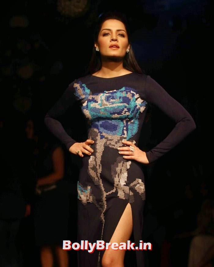 Celina Jaitly, Pics of Manish Malhotra Show at Lakme Fashion Week 2014