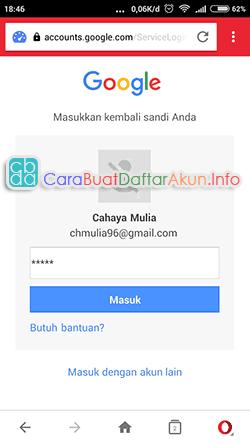 contoh cara membuat akun google