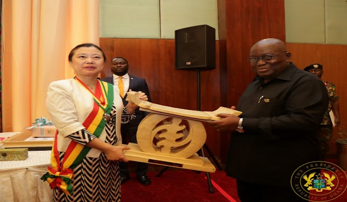"""""""Be A Strong Advocate For Ghana In China"""" – President Akufo-Addo To Outgoing Chinese Ambassador"""