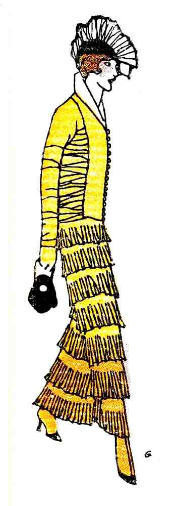 1914 fashion France, a color illustration