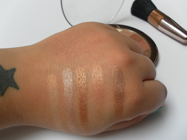 A picture of Sunkissed Bronzing Glimmer Compact Swatches