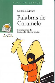 Ilustración de un niño saharaui guiando a un camello