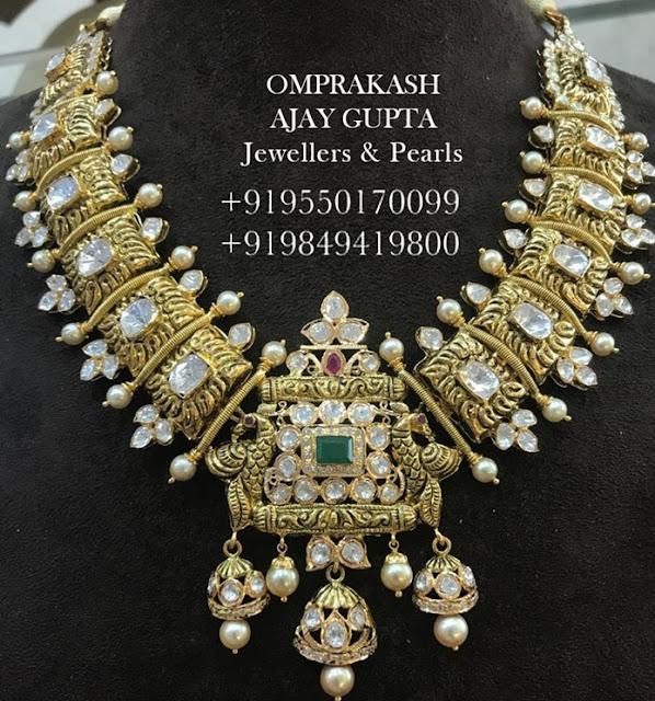 Polki Flat Diamond Sets by Omprakash
