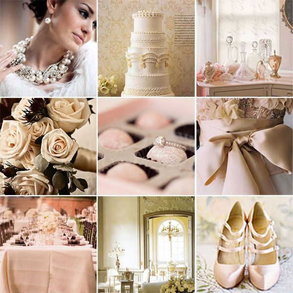 Jackie Fo Champagne Blush and Gold Wedding Inspiration
