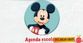 Agenda escolar de  Mickey Mouse en formato PDF