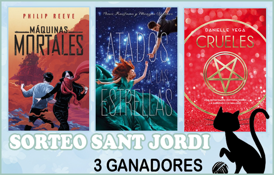 Sorteo 3 libros Sant Jordi 2018