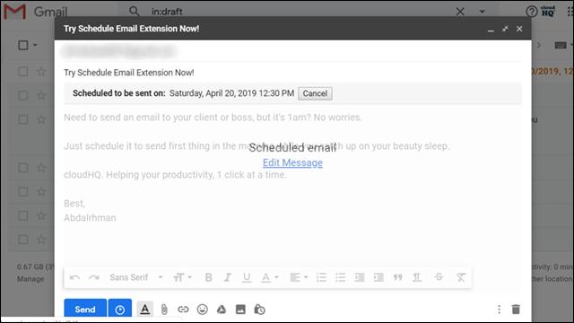 جدولة رسائل Gmail لإرسالها في وقت محدد على الكمبيوتر أو الهاتف 22
