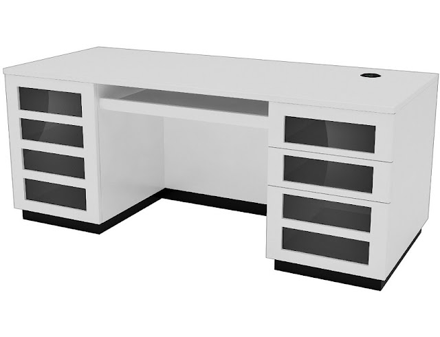 best modern white gloss office furniture pictures
