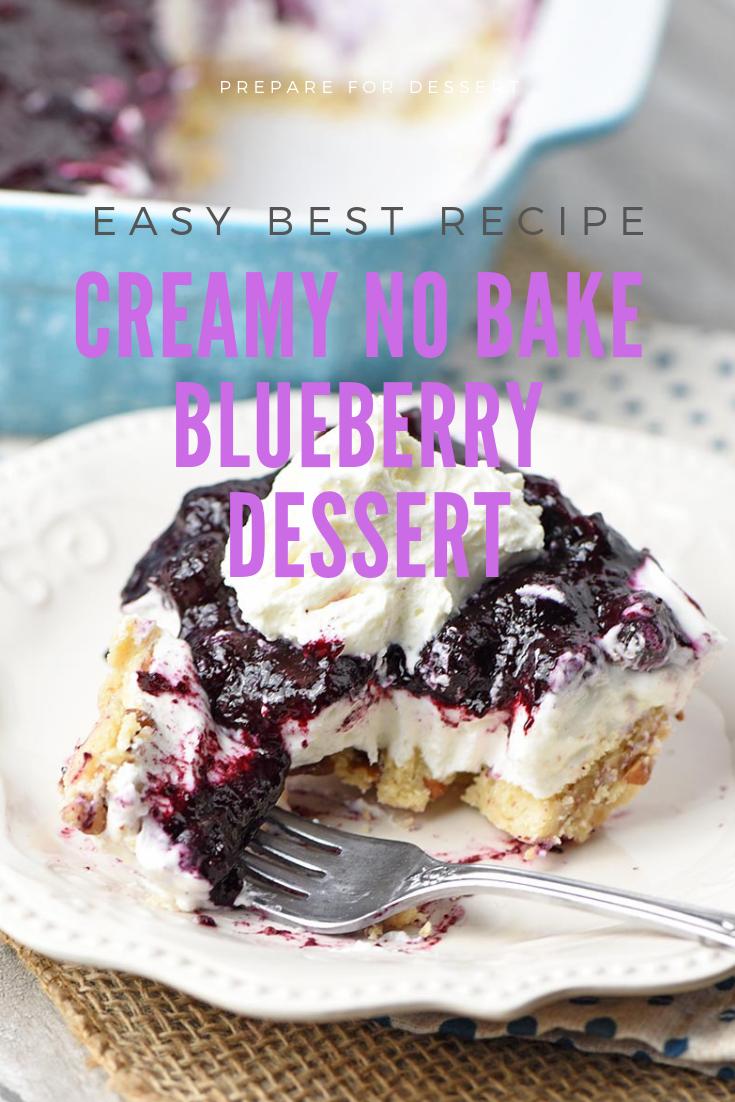 #Easy Ways Making #Creamy #No #Bake #Blueberry #Dessert