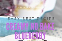 Easy Ways Making Creamy No Bake Blueberry Dessert