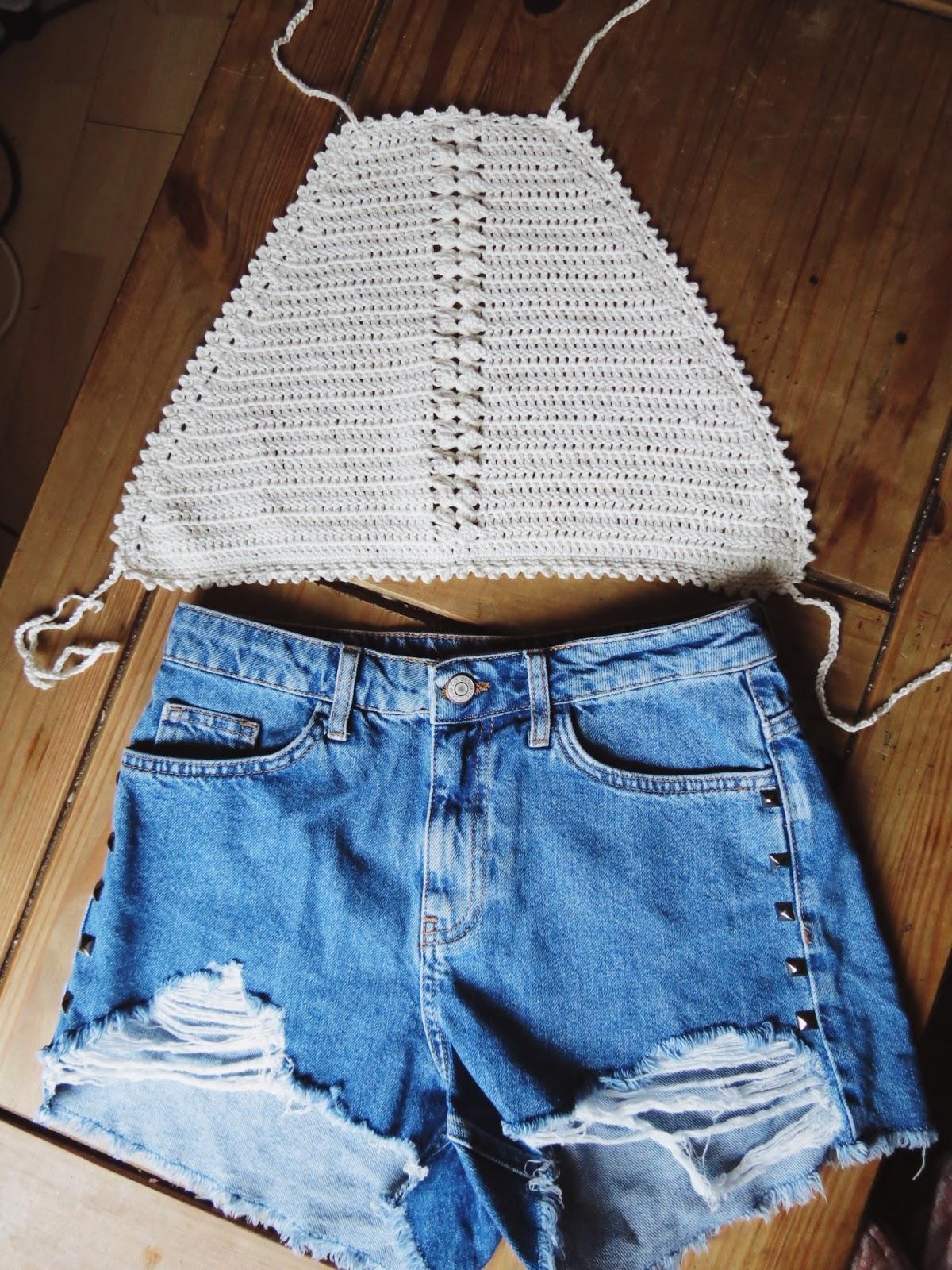 The amelia halter top crochet crop top pattern baditri Gallery