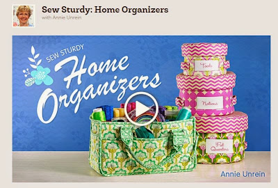 Sew Sturdy Home Organizers class from Craftsy.com