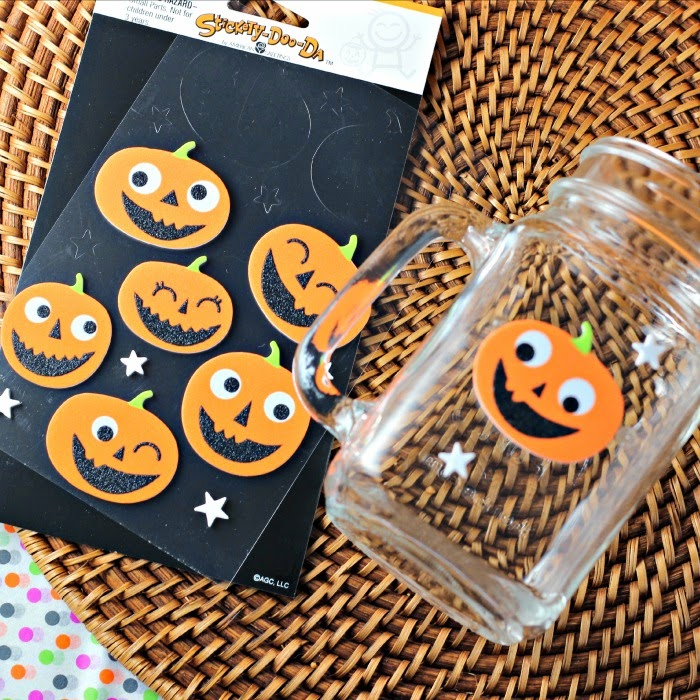 Decorate your mugs for a Halloween treat!  Candy Bar Pudding Cup Smoothie #shop #snackpackmixins