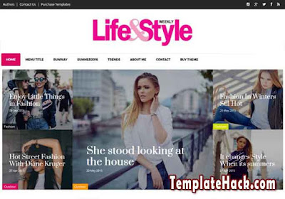 life and style blogger template
