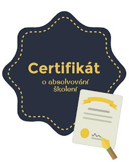 certifikát o školení