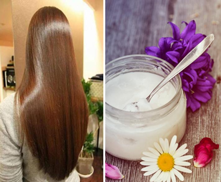 Alise o cabelo em casa com óleo de coco