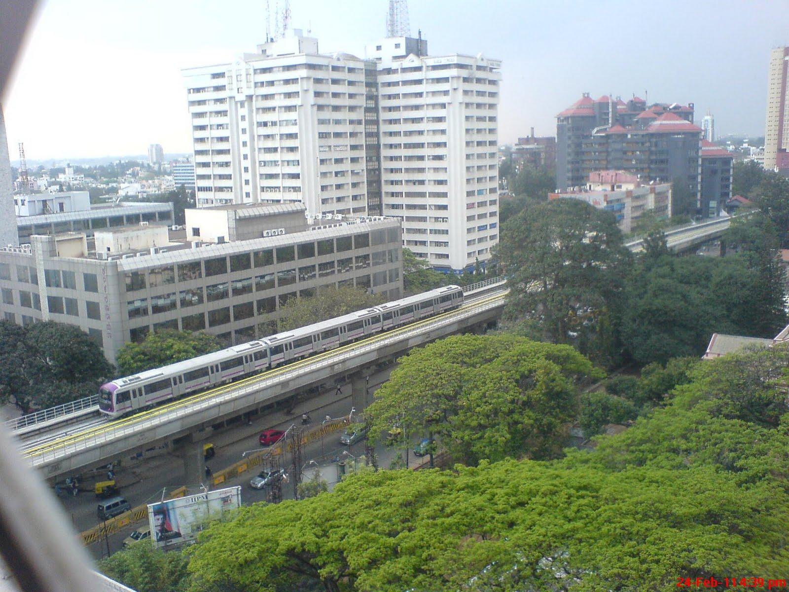 Trial Run Of Bangalore Metro At MG Road