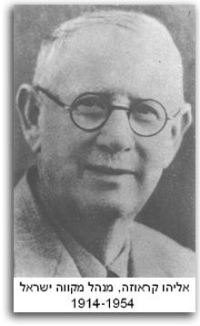 אליהו קרואזה מנהל מקווה ישראל 1914-1954