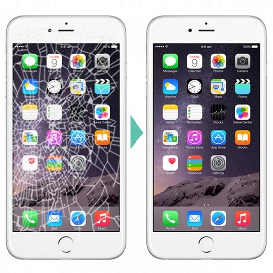 iphone 6s trước và sau khi thay mặt kính