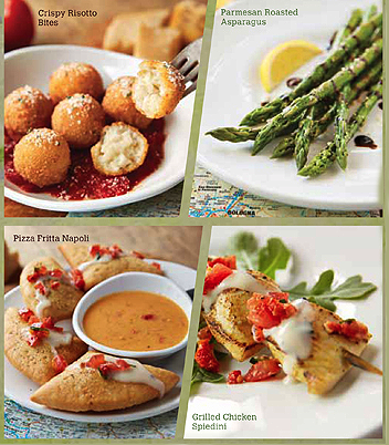Notes on napkins olive garden testing small plates - Olive garden crispy risotto bites ...