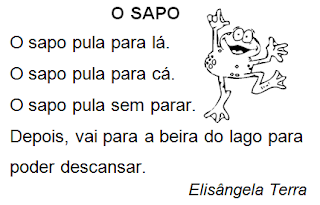 Texto O SAPO, de Elisângela Terra