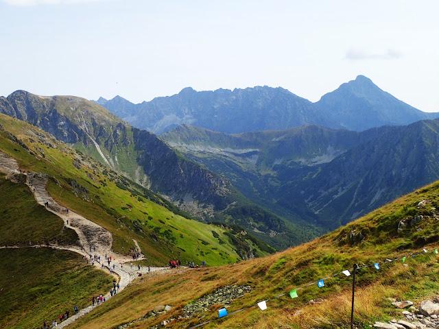 Sucha Przełęcz i Słowacja z Kasprowego Wierchu