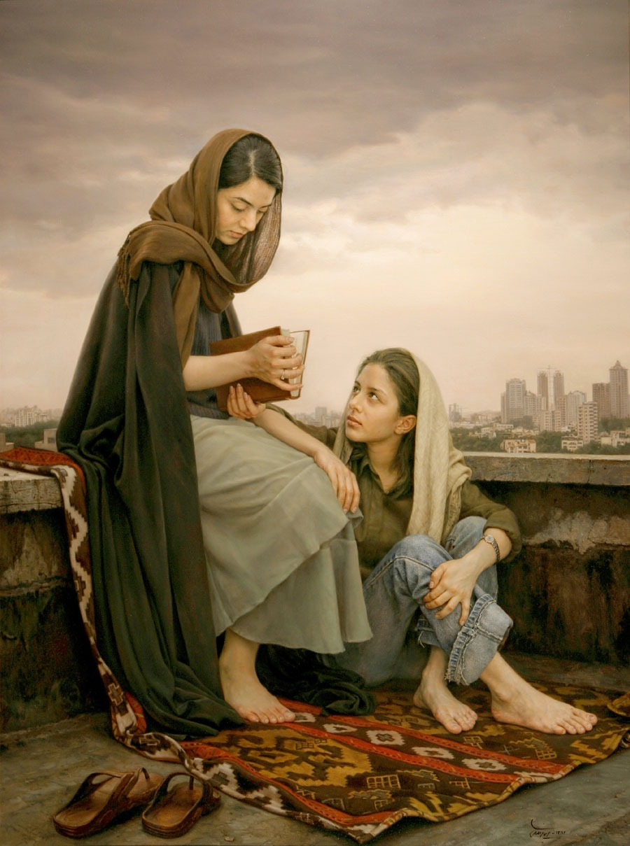 01-Omens-of-Hafez-Iman-Maleki-Realistic-Paintings-that-Portray-Intense-Expressions-www-designstack-co
