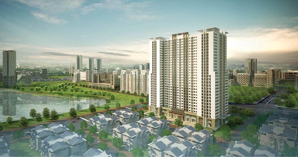 Phối cảnh tổng quan dự án chung cư Torre Agbar Park View Hoàng Mai