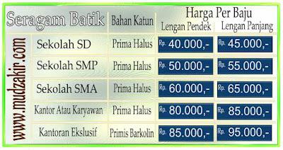 Grosir batik murah di Banjarmasin untuk seragam sekolah, kantor dan dinas