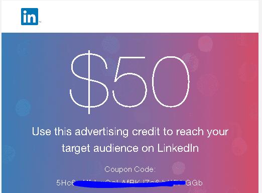 كيف تحصل على كوبون 50$ لإعلانات لنكد إن في خطوتين!