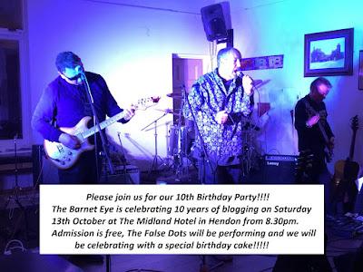 The Barnet Eye is ten years old in October