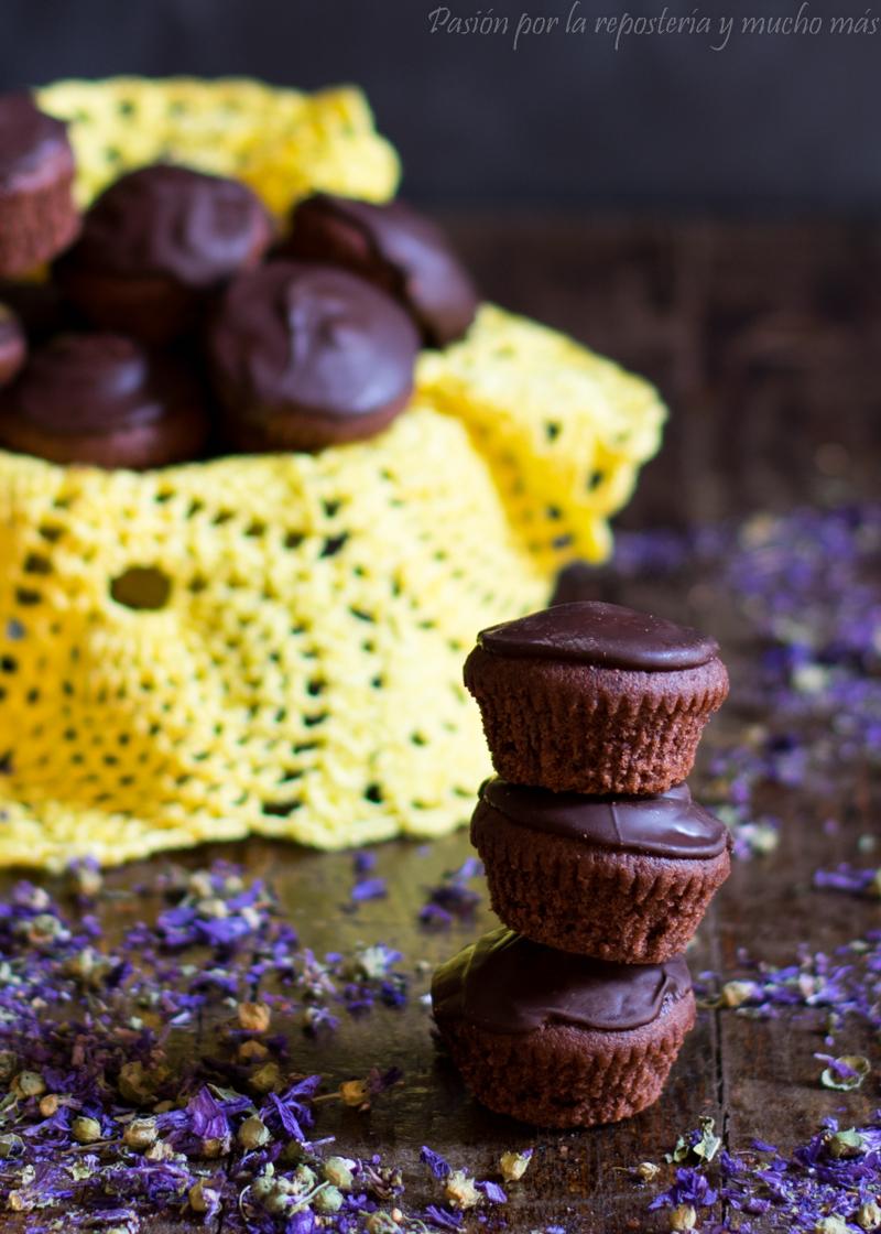 Mini magdalenas de chocolate