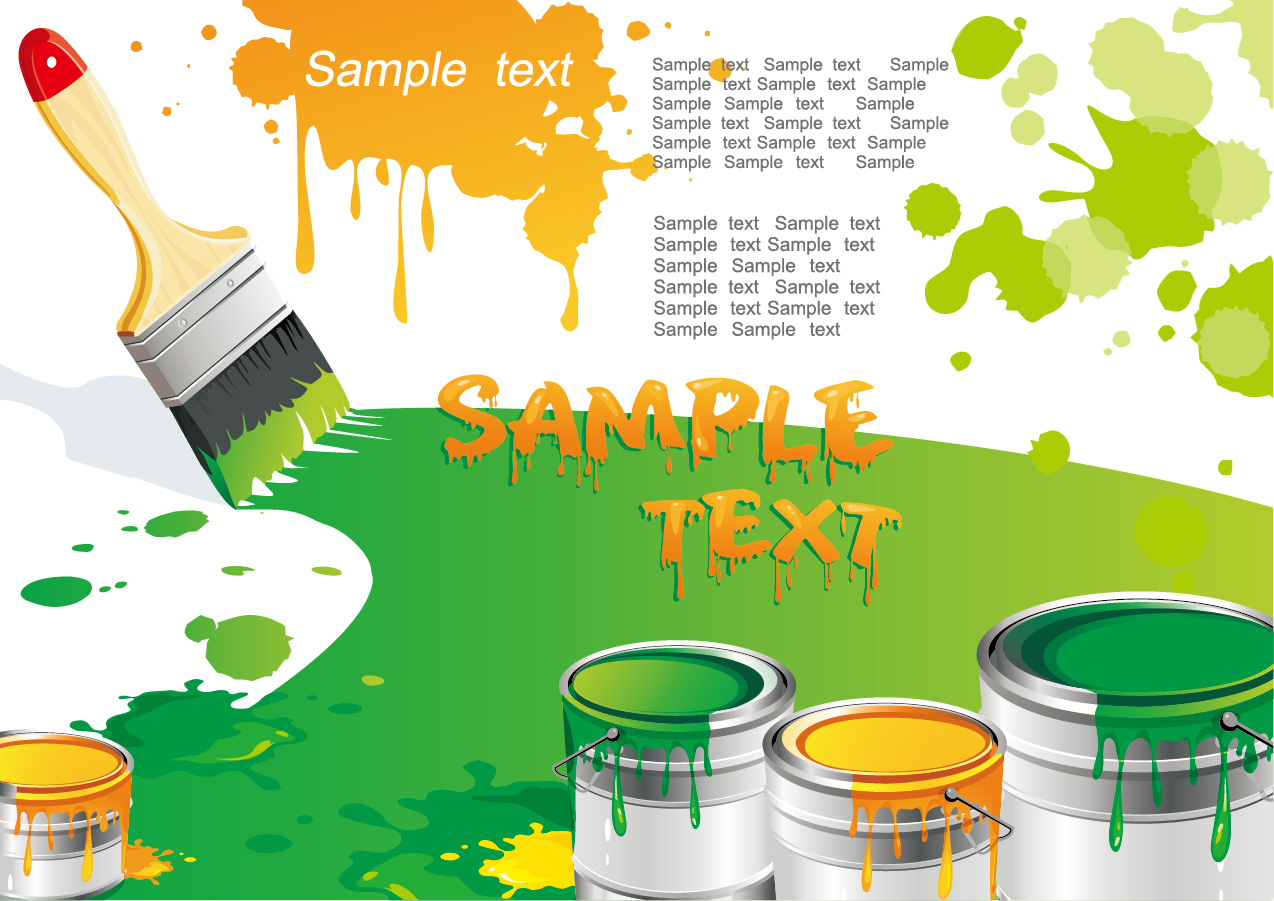 ペイントブラシのクリップアート paint brush with color the vector ...