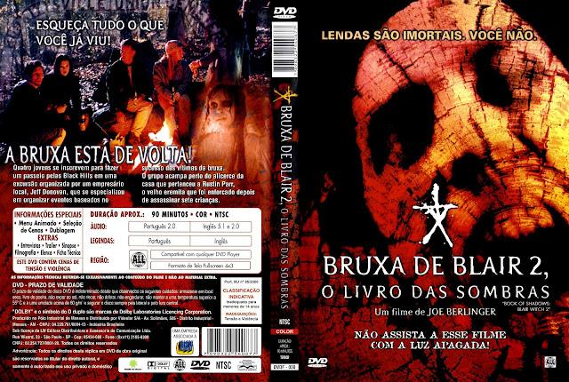 Capa DVD Bruxa de Blair 2 O Livro das Sombras