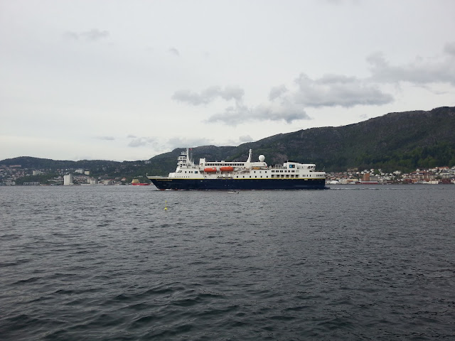 Cruise ship National Geographic Explorer in Bergen, Norway