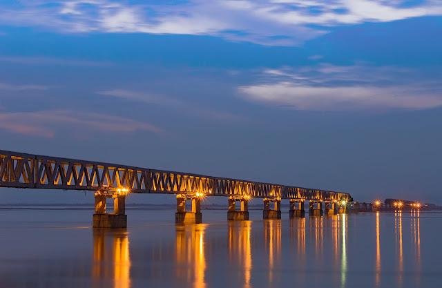 Bogibeel bridge,Bogibeel, Bogibeel bridge inauguration,pm modi inaugurates Bogibeel bridge, what is Bogibeel bridge, bogibeel bridge why its important, Narendra Modi,India's longest rail road bridge,India China border, assam, Bogibeel Bridge Assam, Bogibeel Bridge 2018, Assam bridge, Railroad Bridge, Brahmaputra river,indian railways