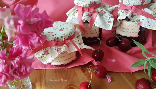Mermelada de cerezas al limoncello