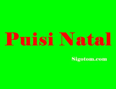 Puisi Natal Terbaru